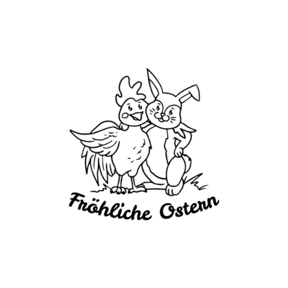 Motivstempel Ostern Fröhliche Ostern 1