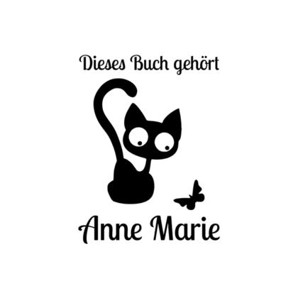 Ex Libris Katze und Schmetterling