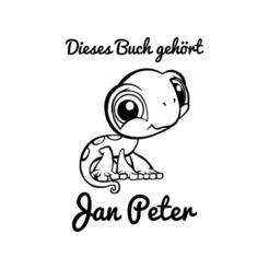 Ex Libris kleiner Gecko