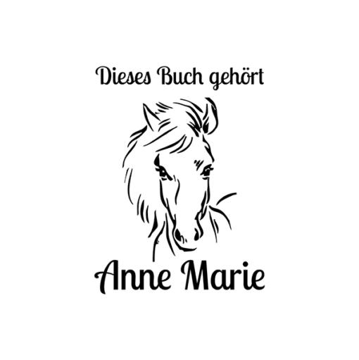 Ex Libris Pferd