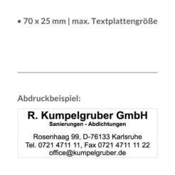 Abdruckbeispiel Trodat printy 4915