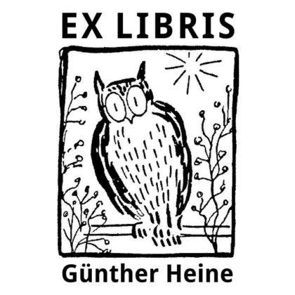 Ex Libris Eule auf Ast