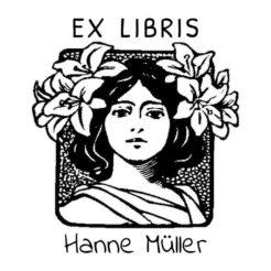 Ex Libris Frau mit Blumen