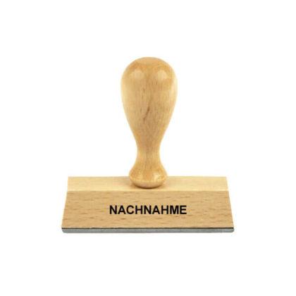 Holzstempel Lagertext NACHNAHME
