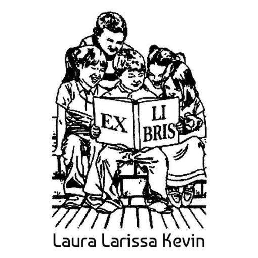 Ex Libris Lesende Geschwister