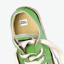 Schuh beklebt Dinge Stempel