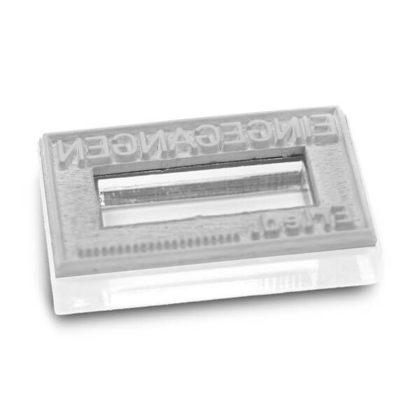 Stempeltextplatte für Trodat Printy und Dater