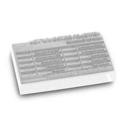 Stempeltextplatte für Trodat Printy und Professional
