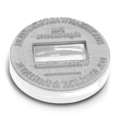 Stempeltextplatte für Trodat mit Datum rund