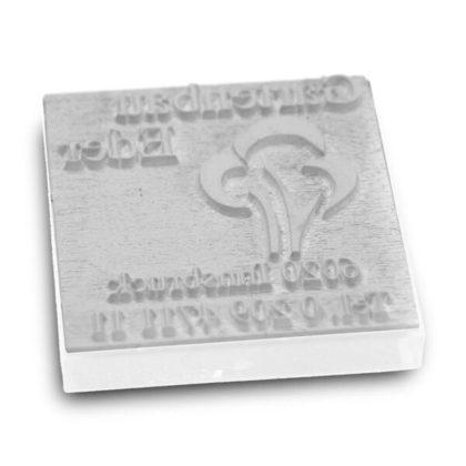 Stempeltextplatte für Trodat quadrat