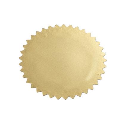 Etikett für Praegezange ungepraegt gold