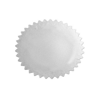 Etikett für Praegezange ungepraegt silber