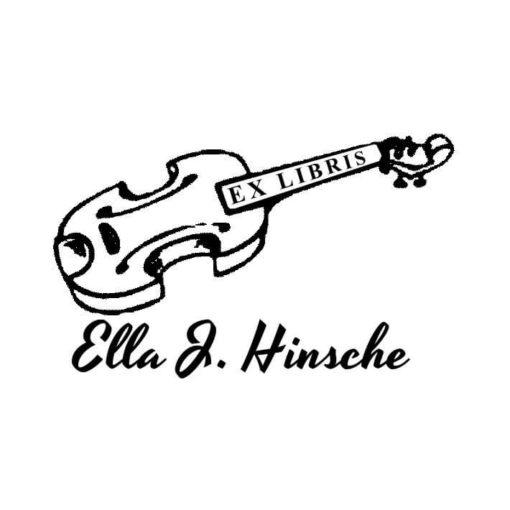 Ex Libris Holzstempel Gitarre