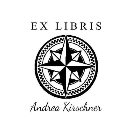 Ex Libris Holzstempel Himmelsrichtung