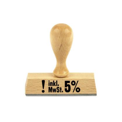 Holzstempel Lagertext inkl. MwSt. 5%