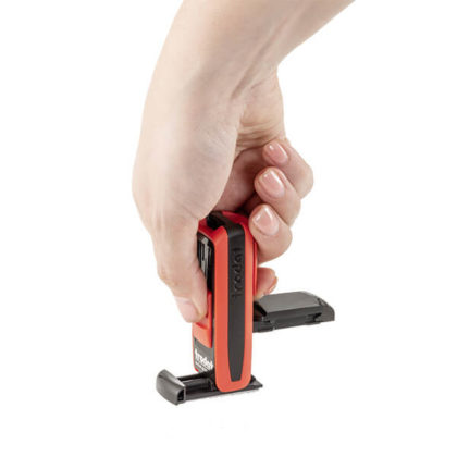 Hand stempelt mit Pocket Printy
